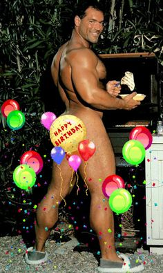 Naked gay guy birthday