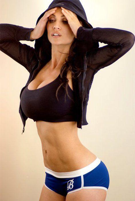 Big tits fitness hot model
