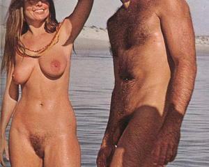 Vintage retro nudist nude
