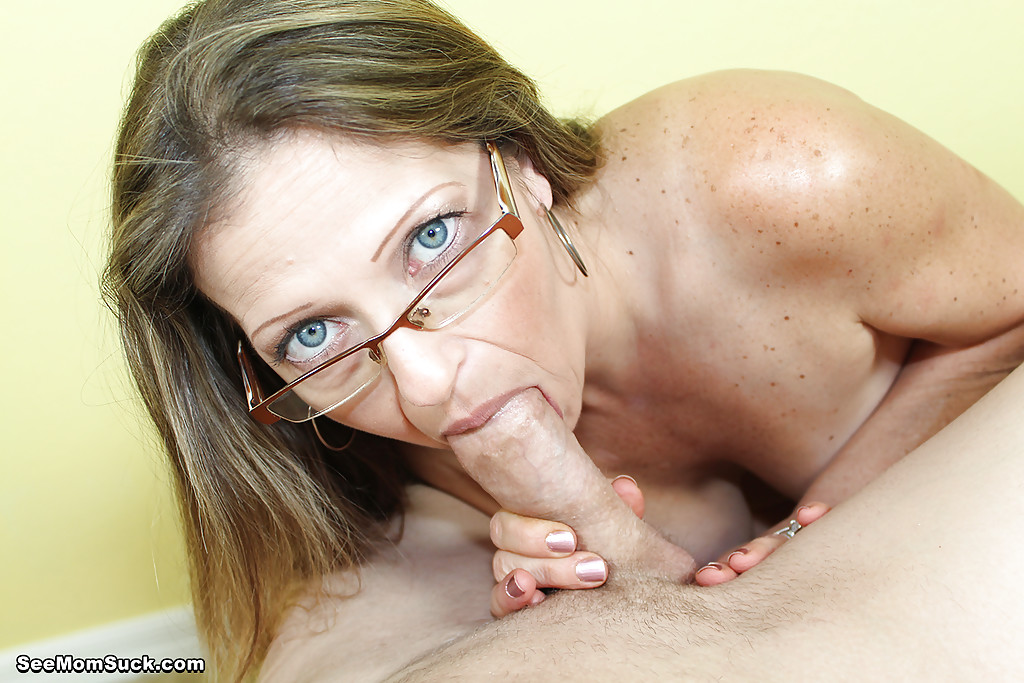 Milf with glasses blowjob