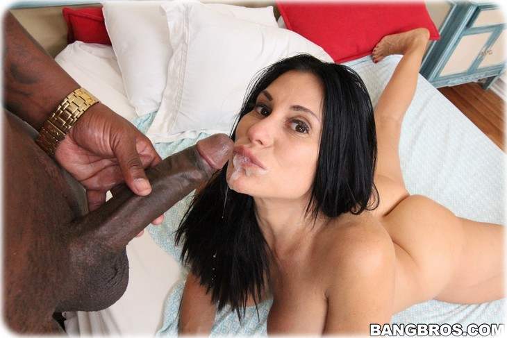 Interracial big dick cumshots