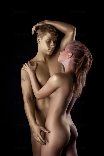 Nudist couples posing naked