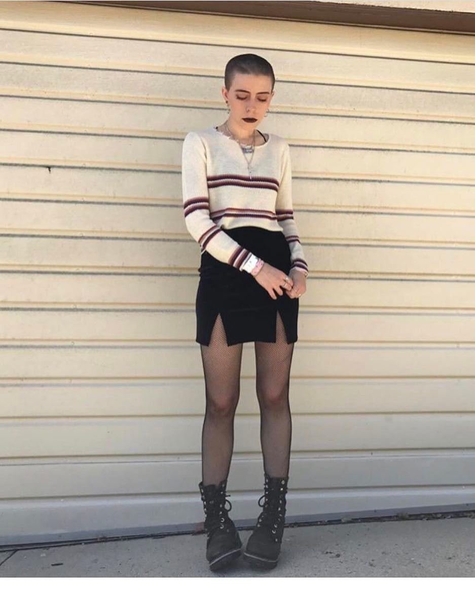 pantyhose and mini Dawn skirt