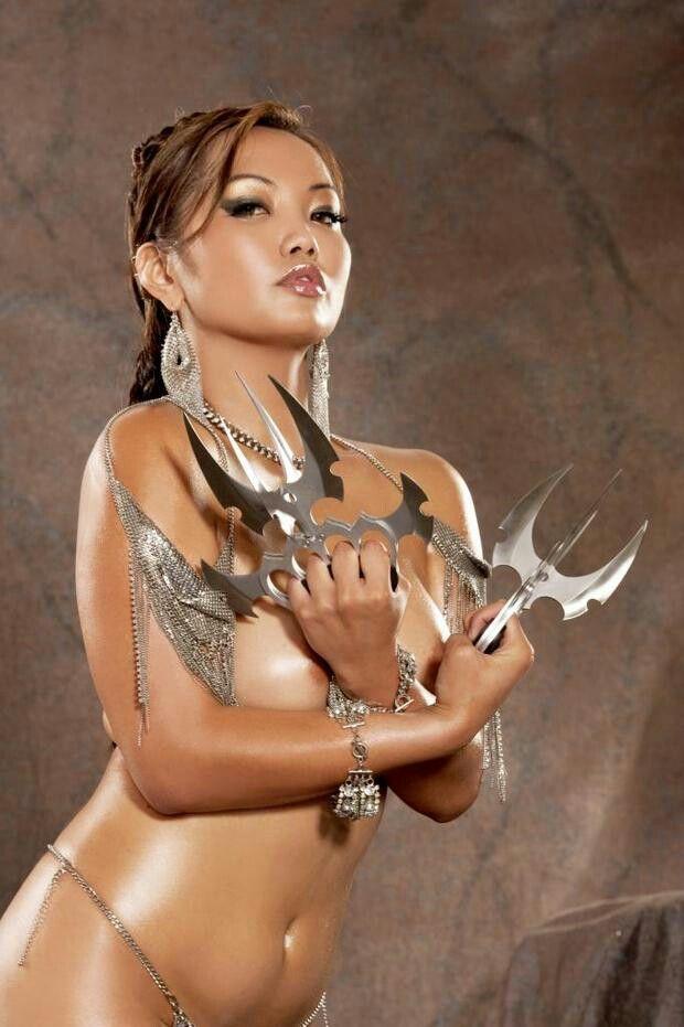 Erotic nude thin woman