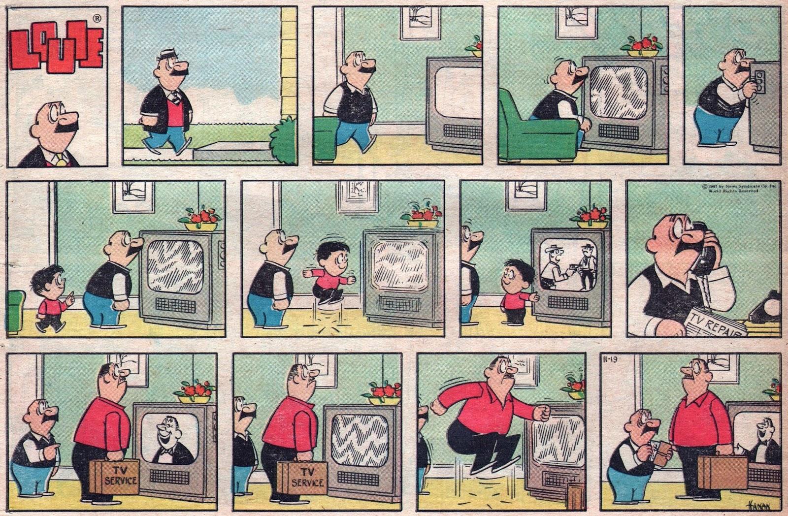 Cartoon comic strip wife